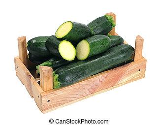 zucchini in crate