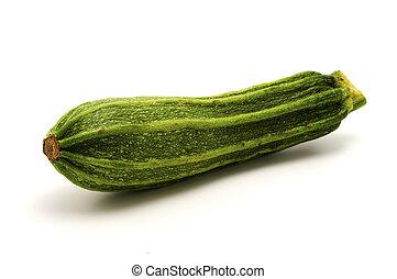 Zucchini on a white background