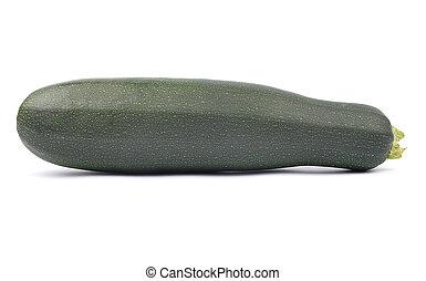 Zucchini on white background