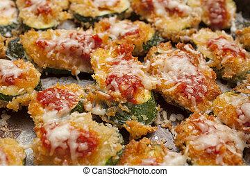 Zucchini Parmesan - Homemade zucchini parmesan chips
