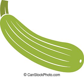 zucchini vegetable vector icon