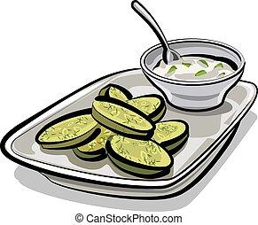 zucchini with sauce