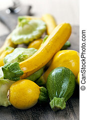 Zucchinis - Assorted whole fresh organic mini zucchinis...