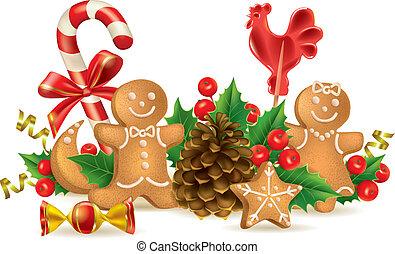 zuckerl, weihnachtsdekorationen