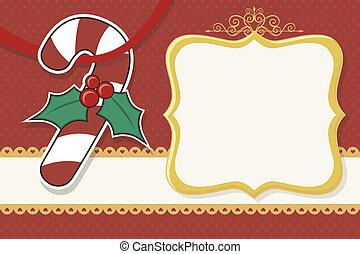zuckerstange, weihnachtskarte