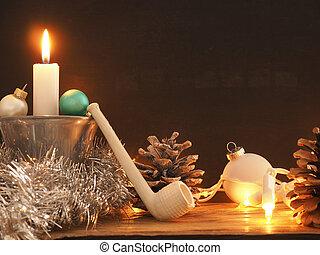 zuerst, advent, kerze, brennender