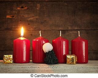 zuerst, advent, weihnachten, oder, advent, hintergrund