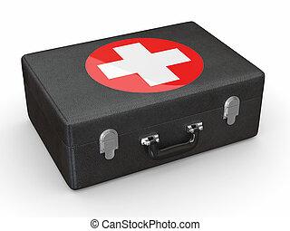 zuerst, aids., medizin, kit., 3d