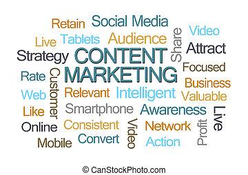 zufriedene , marketing, wort, wolke