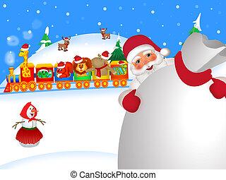 zug, weihnachten