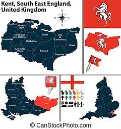 zuiden, oosten, engeland, uk, kent