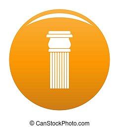 zuil, sinaasappel, steen, pictogram