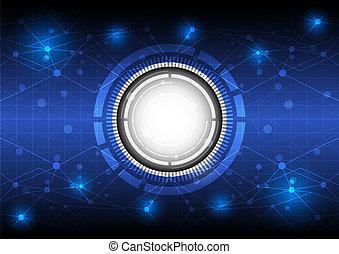 zukunft, begriff, technologie, hintergrund, digital
