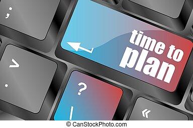 zukunft, zeit, planen, begriff, mit, schlüssel, auf, computertastatur, vektor, tastatur gibt, tastatur, taste