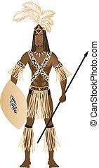 zulu, carnaval, kostuum