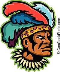 zulu-warrior-head-side-mascot