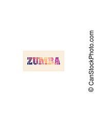 Zumba dance illustration.