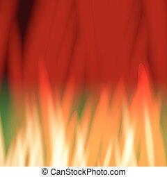 zungen, flamme