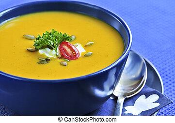zupa, dynia, albo, miąższ