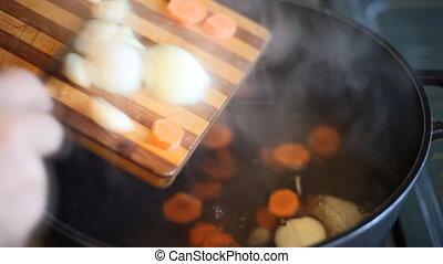 zupa, garnek, vegetables.