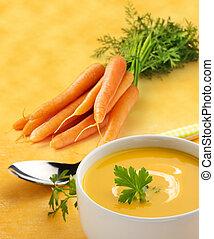 zupa, marchew, puchar