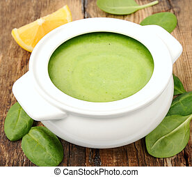 zupa, roślina, śmietanka