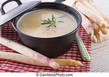 zupa, szparag