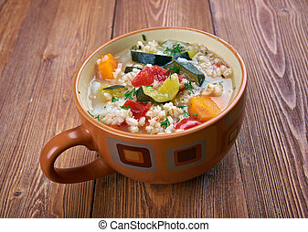 zuppa, d'orzo