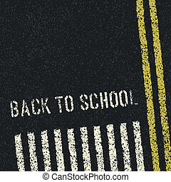 zurück, zu, school., straßensicherheit, concept., vektor,...