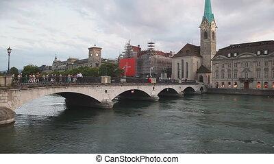 Zurich city in Switzerland.