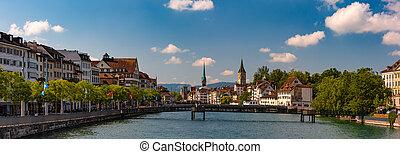 zurich, plus grand, ville, suisse