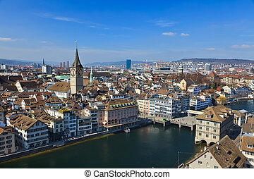 zurigo, svizzera, vista