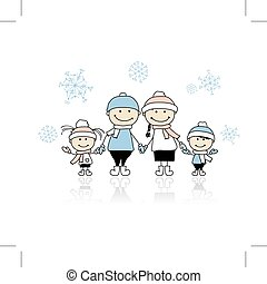 zusammen, glücklich, feiertag, weihnachten, familie, lächeln
