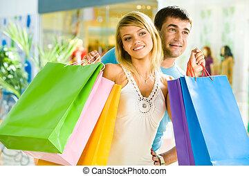 zusammen, shoppen