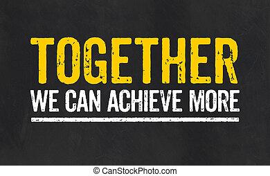 zusammen, wir, buechse, erreichen, mehr