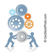 zusammenarbeit, macht
