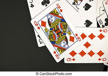 zusammensetzung, von, kasino, füllen