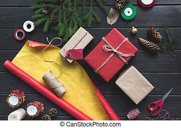 zusammensetzung, von, weihnachtsgeschenke