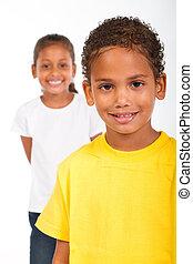 zuster, afrikaanse amerikaan, broer