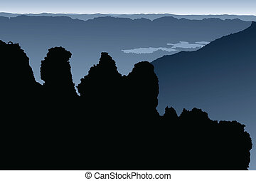 zuster, silhouette, drie
