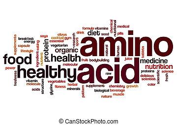 zuur, woord, wolk, amino