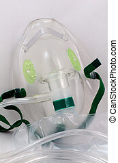 zuurstofmasker, met, zak, closed-up.