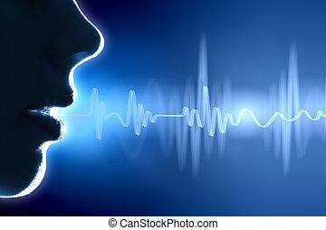 zvuková vlna, ilustrace