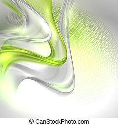 zwaaiende , grijs, abstract, achtergrond