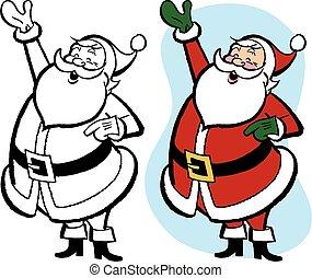 zwaaiende , hallo, kerstman