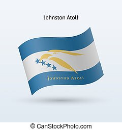 zwaaiende , johnston, vlag, form., atol