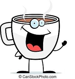 zwaaiende , koffie