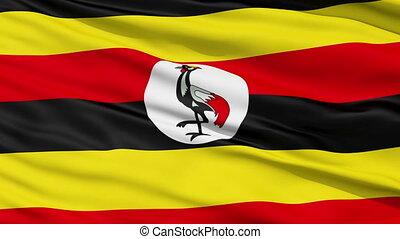zwaaiende , nationale vlag, oeganda