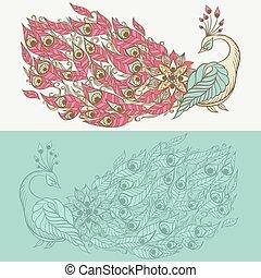 zwaan, tekening, mythisch