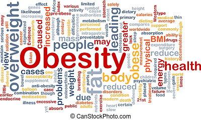 zwaarlijvigheid, concept, dik, achtergrond